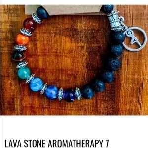 Seven chakra bracelets and keychains